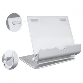 Universal Aluminium Holder for Tablet PC and Smartphone - LS15017 - Silver