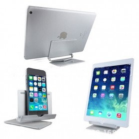 Universal Aluminium Holder for Tablet PC and Smartphone - LS15017 - Silver - 2