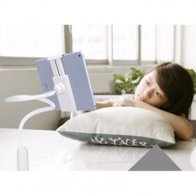 TaffSTUDIO Lazypod Arm Universal Tablet PC Holder dengan Klip 360 Derajat - A-138 - Black - 16