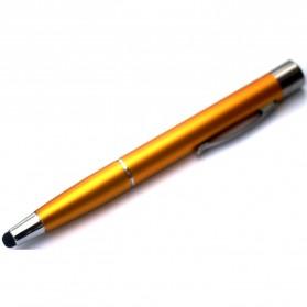 Pena Stylus James Bond dengan Power Bank 1100mAh - Golden