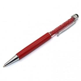 Ballpoint Pena Stylus Motif Crystal - Red