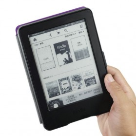 Leather Flip Case for Kindle Paperwhite 3 - Black
