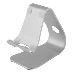 Smartphone Tablet Stand Holder Aluminium - XC-SJZJ002 - Silver