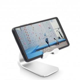 TABLETOP Smartphone Tablet Stand Holder Aluminium Adjustable Bracket - L3 - Silver - 2