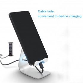 TABLETOP Smartphone Tablet Stand Holder Aluminium Adjustable Bracket - L3 - Silver - 3