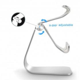 TABLETOP Smartphone Tablet Stand Holder Aluminium Adjustable Bracket - L3 - Silver - 4