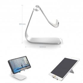 TABLETOP Smartphone Tablet Stand Holder Aluminium Adjustable Bracket - L3 - Silver - 6
