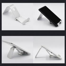 TABLETOP Smartphone Tablet Stand Holder Aluminium Adjustable Bracket - L3 - Silver - 8