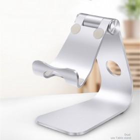 TABLETOP Smartphone Tablet Stand Holder Aluminium Adjustable Bracket - L3 - Silver - 9