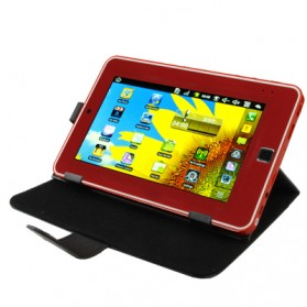 Universal Leather Case with Holder for Tablet PC 7.0 inch - Black