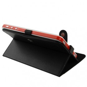 Universal Leather Case with Holder for Tablet PC 7.0 inch - Black - 2