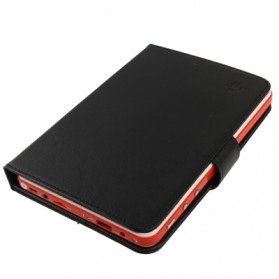Universal Leather Case with Holder for Tablet PC 7.0 inch - Black - 3