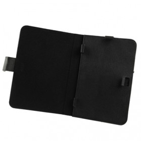 Universal Leather Case with Holder for Tablet PC 7.0 inch - Black - 4