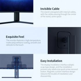 Xiaomi Ultra Wide Curved Gaming Monitor 1440P 144Hz AMD Free-Sync 34 Inch - Black - 11