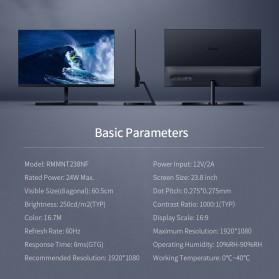 Xiaomi Redmi 1A Desktop Monitor Full HD 1080P IPS 23.8 Inch - RMMNT238NF - Black - 10