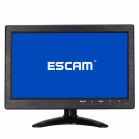 ESCAM T10 LCD Monitor CCTV 10 Inch - Black - 3