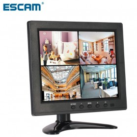 ESCAM T08 LCD Monitor CCTV 8 Inch - Black