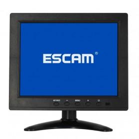 ESCAM T08 LCD Monitor CCTV 8 Inch - Black - 3