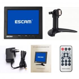 ESCAM T08 LCD Monitor CCTV 8 Inch - Black - 5