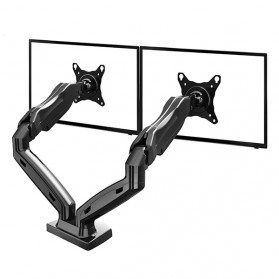 Universal Dual Monitor Arm Bracket Vesa Mount 17-27 Inch - NB-F160 - Black