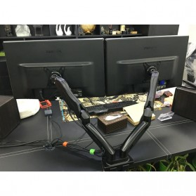 Universal Dual Monitor Arm Bracket Vesa Mount 17-30 Inch - NB-F160 - Black - 9