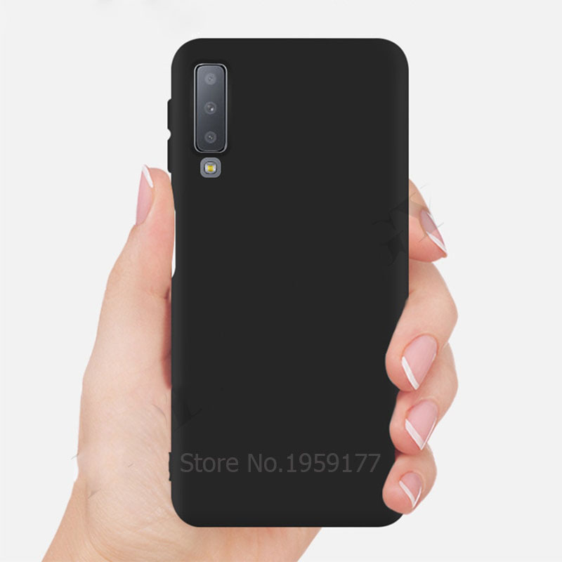 finest selection 82a54 c7b28 Soft Case Back Cover for Samsung Galaxy A7 2018 - BA01 - Black