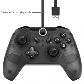 Bluetooth Gamepad Gyro Axis Joystick for Nintendo Switch - r25 - Black - 4