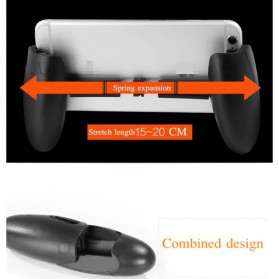 Gamepad Hand Grip Mobile Game Handle Egg Design - SYRINX - Black - 7