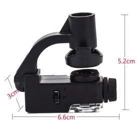 Luckyzoom Microscope Magnifying Glass Smartphone Clip 90x - 774-90X - Black - 5