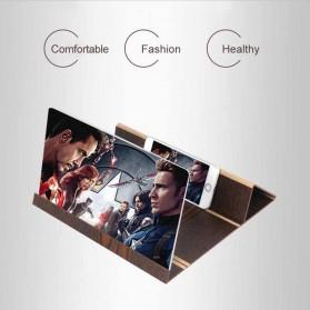 Enlarge Screen Amplifier Pembesar Layar HP Smartphone Bahan Kayu - ZL2018 - Golden - 6