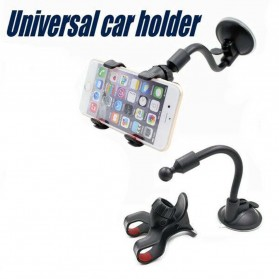Lazypod Car Mount Holder for Smartphone - WF-356 - Black