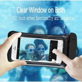 Oppselve Universal Smartphone Waterproof Bag Case 5.5 Inch - ABS180-105 - Black