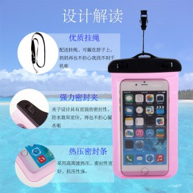 Oppselve Universal Smartphone Waterproof Bag Case 5.5 Inch - ABS180-105 - Black - 8