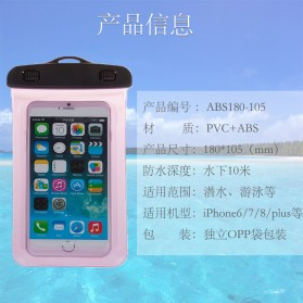 Oppselve Universal Smartphone Waterproof Bag Case 5.5 Inch - ABS180-105 - Black - 9