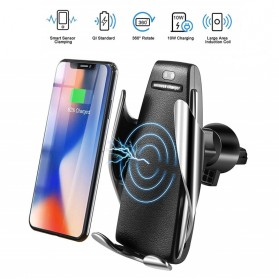 DigRepair Car Holder + Wirelesss Charger Smartphone Smart Sensor - S5 - Black