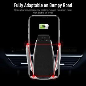 DigRepair Car Holder + Wirelesss Charger Smartphone Smart Sensor - S5 - Black - 2