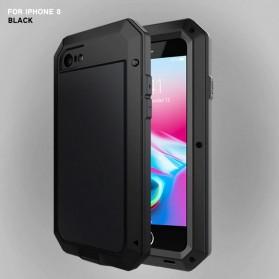 R-JUST Full Protective Heavy Duty Armor Case Metal Aluminium for iPhone 7/8 - Black - 2
