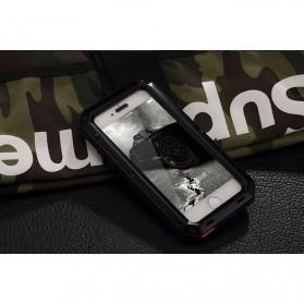 R-JUST Full Protective Heavy Duty Armor Case Metal Aluminium for iPhone 7/8 - Black - 3