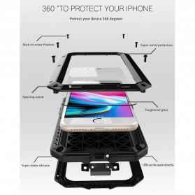 R-JUST Full Protective Heavy Duty Armor Case Metal Aluminium for iPhone 7/8 - Black - 4