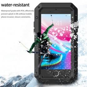R-JUST Full Protective Heavy Duty Armor Case Metal Aluminium for iPhone 7/8 - Black - 6