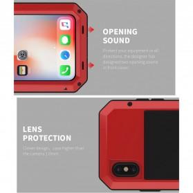 R-JUST Full Protective Heavy Duty Armor Case Metal Aluminium for iPhone 7/8 - Black - 8
