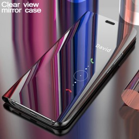 KivaKi Clear View Case Flip Cover for Samsung Galaxy A9 2018 - K22 - Black - 6