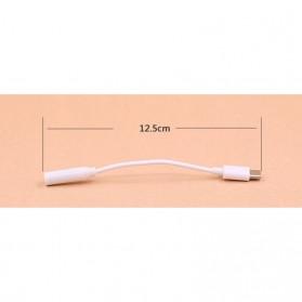 Uverbon Kabel Konverter Earphone Adapter Audio Jack USB Type C 3.5mm - A424 - White - 7