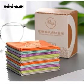 MINIMUM Kain Microfiber Lap Pembersih Lensa Kacamata Serbaguna 10 PCS - TP10 - Mix Color - 6