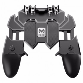 Wireless Gamepad / Joystick - ViGRAND Gamepad Controller Grip Six Fingers Trigger Aim PUBG Fortnite - AK66 - Black