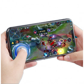 TOFOCO Round Joystick Analog Smartphone 360 Derajat Mobile Legends - Q8 - White