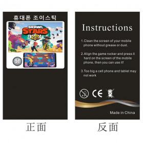 TOFOCO Round Joystick Analog Smartphone 360 Derajat Mobile Legends - Q8 - White - 3