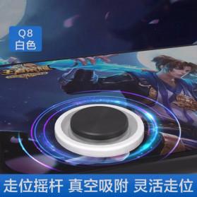 TOFOCO Round Joystick Analog Smartphone 360 Derajat Mobile Legends - Q8 - White - 4
