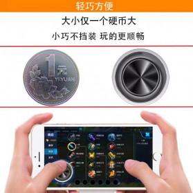 TOFOCO Round Joystick Analog Smartphone 360 Derajat Mobile Legends - Q8 - White - 5