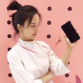 Lanyard Gantungan Smartphone Multifungsi 2 in 1 - GS-101 - Black - 7